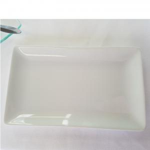 Assiette rectangle blanche