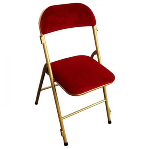 location chaise en velours rouge