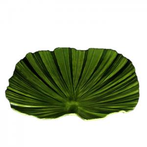 Plateau feuille palme vert 45 cm