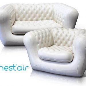 Pack Location 2 fauteuils et 2 canapés type chesterfield gonflables