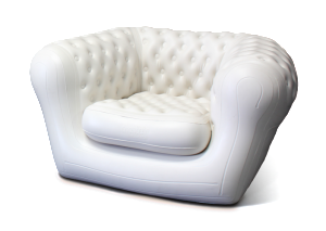 Location fauteuil type chesterfield gonflable
