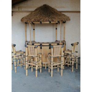 Location bar paillotte en bambou